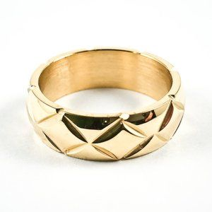 Jewelry - Nice X Accents Shiny Eternity Gold Tone Ring